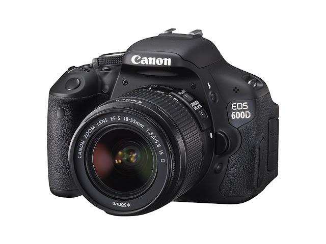 kamera canon 600d tampak depan