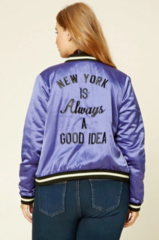 Forever 21 NY Souvenir Jacket Back