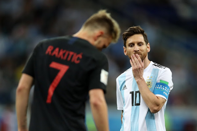 Messi shocked as Argentina lose to croatia