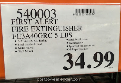 Deal for the First Alert Heavy Duty Fire Extinguisher at Costco