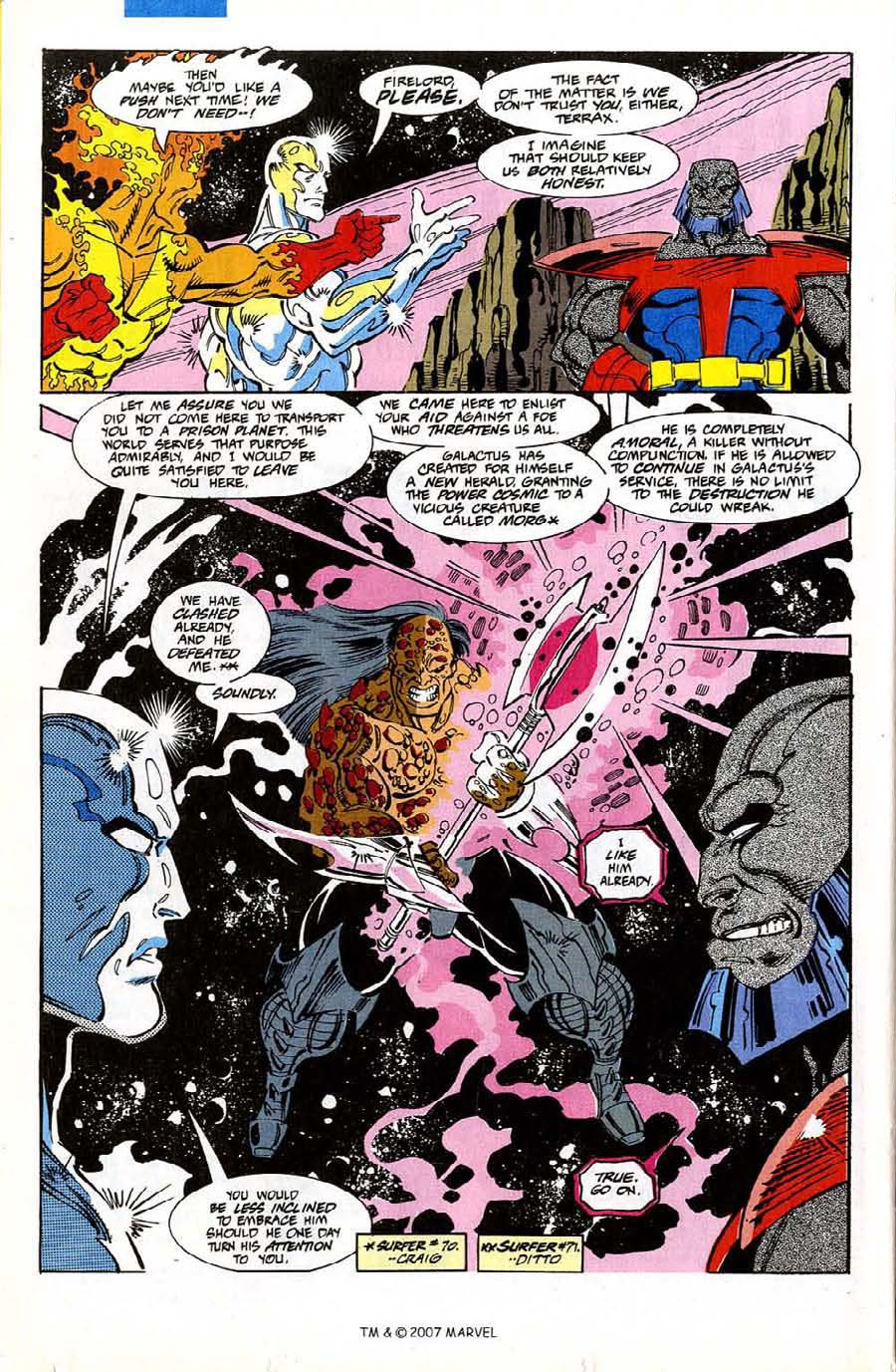 Read online Silver Surfer (1987) comic -  Issue #74 - 22