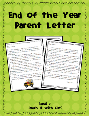 thank you letter teacher from parent end the year end year thank you letter parents that