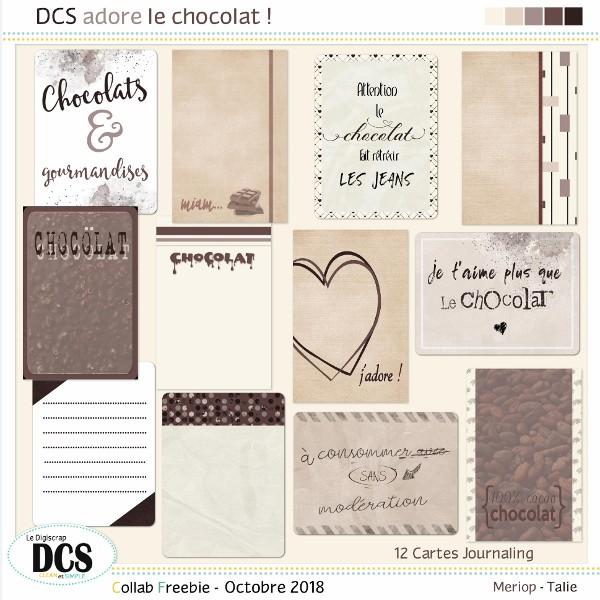 DCS adore le chocolat !  -  Les petites cartes