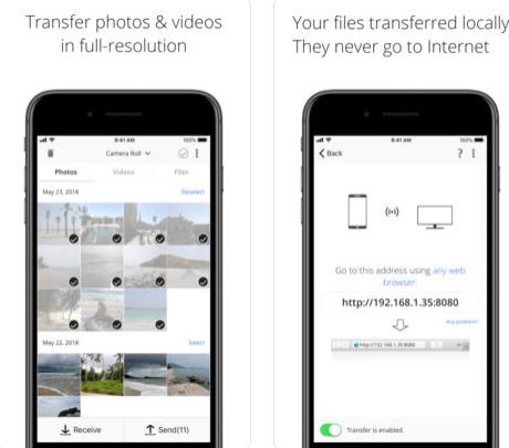 نقل الملفات بين جهاز iPhone و iPad والكمبيوتر الخاص بك باستخدام شبكة WiFi