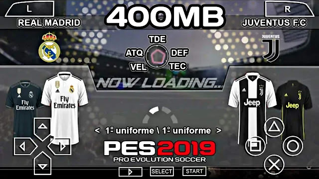 PES 2019 Lite 400 MB New Camera With Commentary Android/PPSSPP
