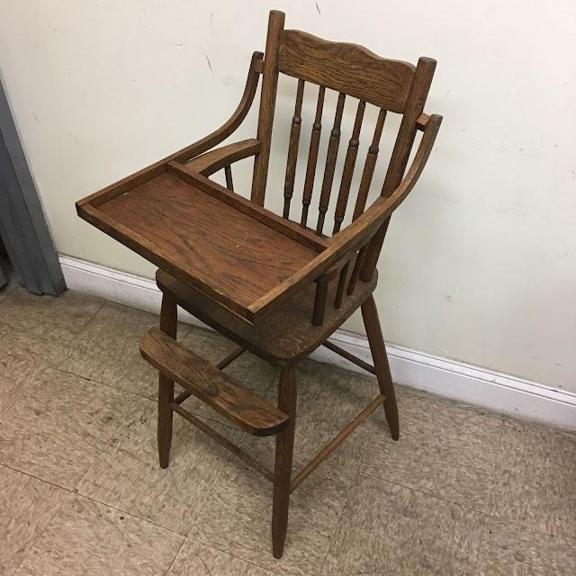 Vintage Oak High Chair - $25