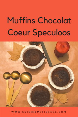muffins chocolat coeur speculoos