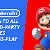 Nintendo Open to All Third-Party Games Cross-Play