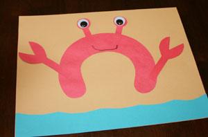 Baby Potatoes Crab Craft
