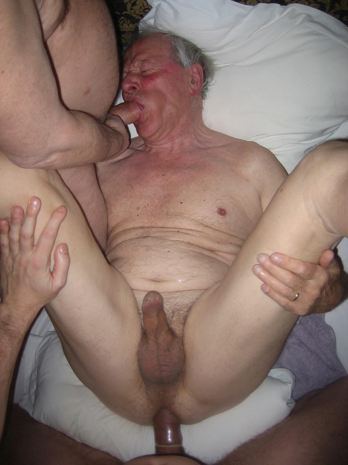 Gay threesome older
