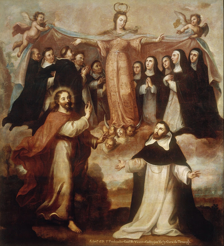 Miguel Cabrera - Allegory of the Virgin Patroness of the Dominicans