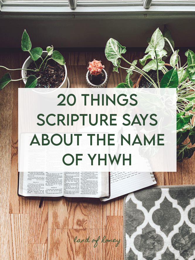 What Scripture Says About the Name of YHWH