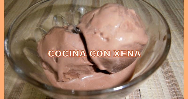 COCINA CON XENA Helado de chocolatemuy bueno y recomendado