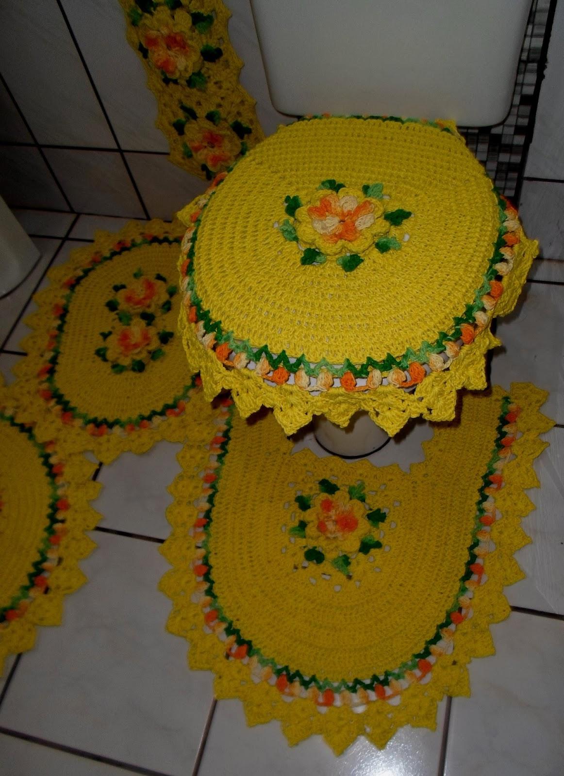 Tapetes Criativos: JOGO DE BANHEIRO AMARELO C/5 PEÇAS #B54706 1162x1600 Amarelo No Banheiro