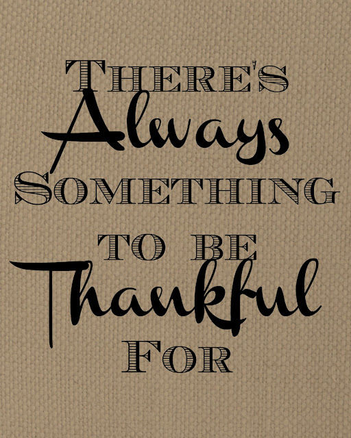 "Thankful Printable on ""Burlap"""