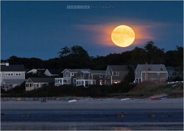 Cape Cod wedding blog photo from Chris Cook Photography about Harvest Moon over Cape Cod