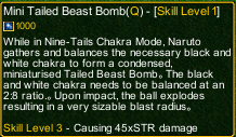 naruto castle defense 6.0 naruto Mini Tailed Beast Bomb detail