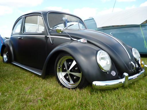 Low Is The Way To Go This Season As 1966 Satin Black Beetle Proves Those Custom Wheels Finish Off Cool Look Of Bug