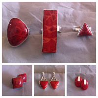 Red Coral Rings and Earrings!