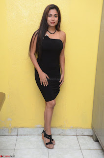 Vrushali Gosavi in strapless Short Black Dress At Follow Follow U Audio Launch 091.JPG