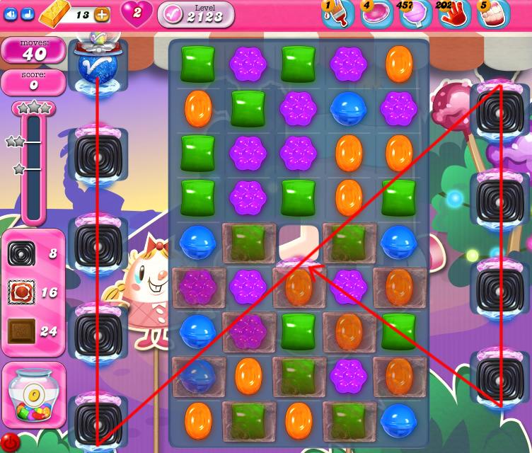 Candy Crush Saga level 2123