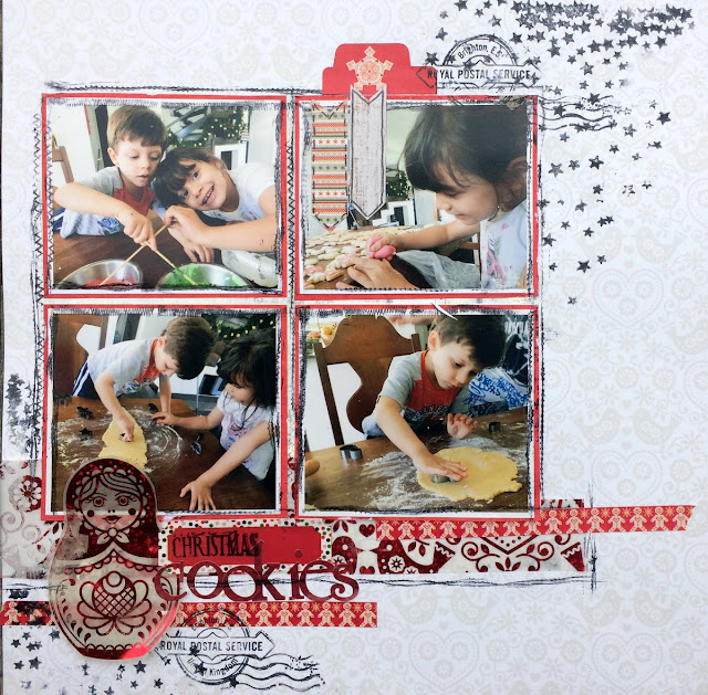 Christmas Cookies layout by Solange Marques featuring BoBunny Merry & Bright collection-