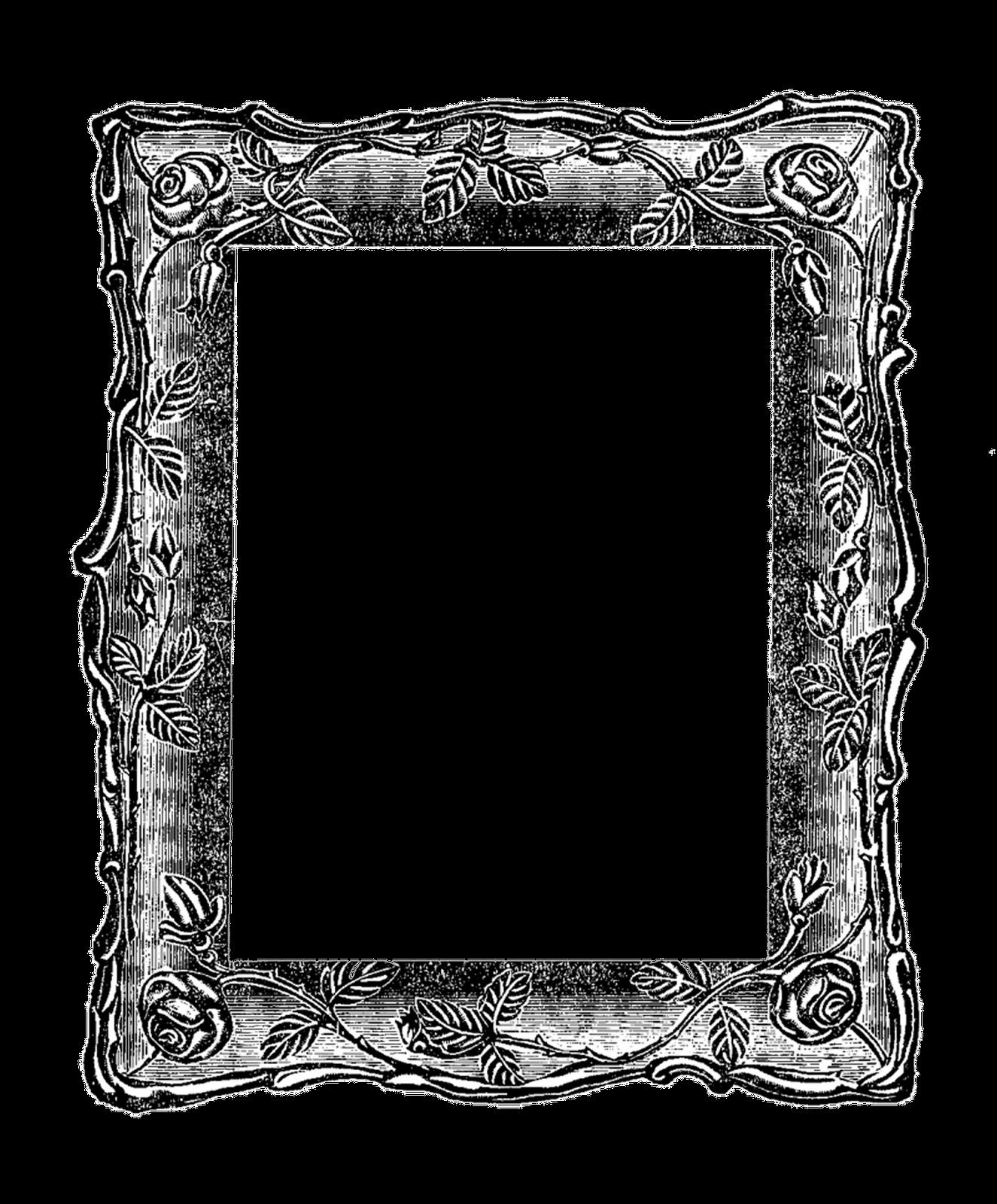 Antique Images Vintage Graphic Decorative Square Frame