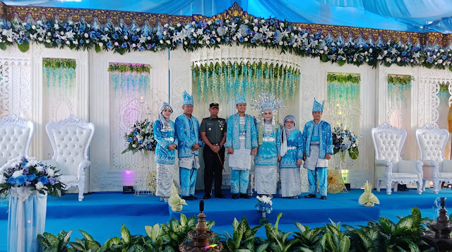 Danrem 042/Gapu Kol Inf Danny  Budiyanto, SE Hadiri Resepsi Pernikahan Putri Sulung Bupati Tebo