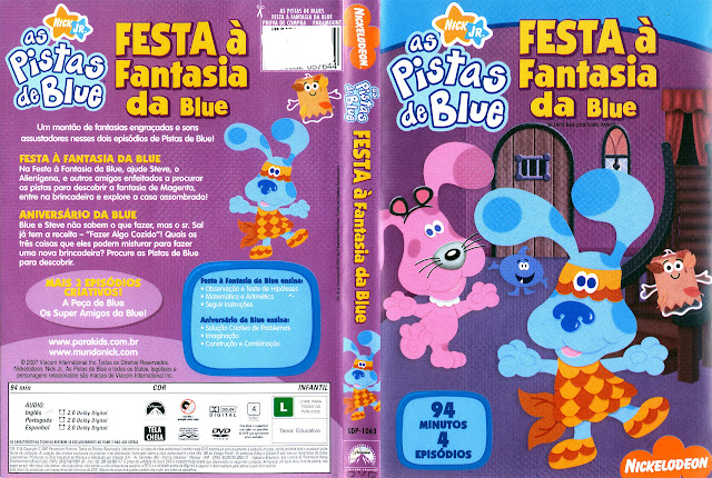 Capa DVD as Pistas de Blue FESTA à Fantasia da Blue