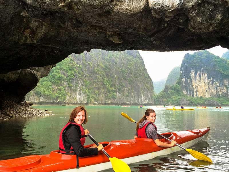 Kayak in Halong Bay, Vietnam