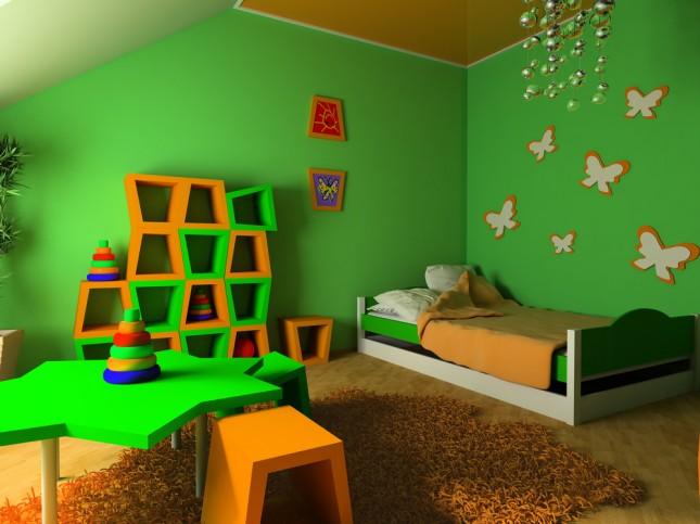 Dormitorio para ni os color verde dormitorios colores y for Habitacion para 2 ninos