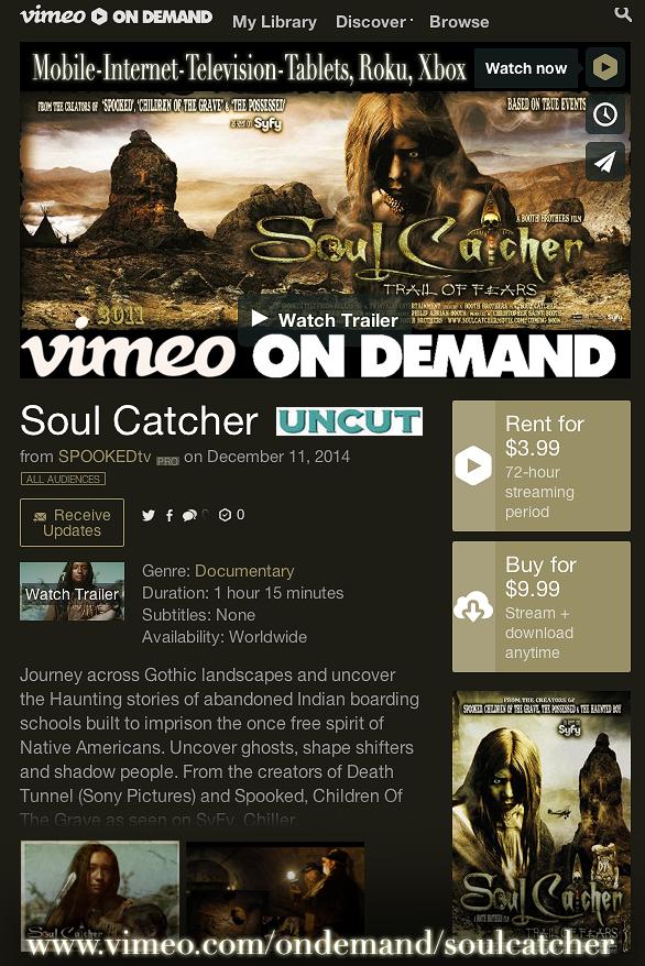 SOUL CATCHER (Now on DVD)