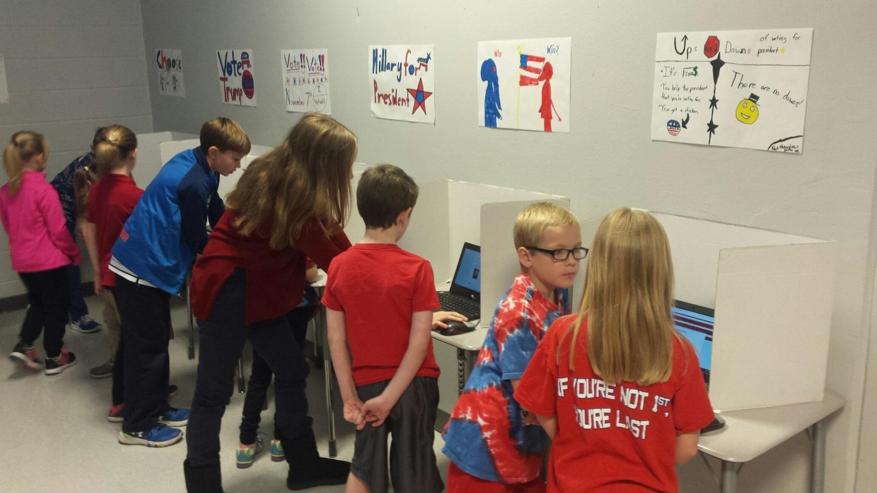 Skook News: Elementary Students Hold Mock Election