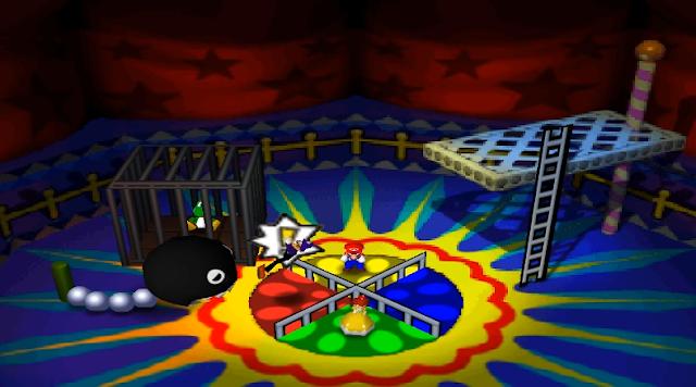 Mario Party 3 Merry-go-Chomp Waluigi Chain Chomp