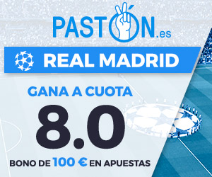 Paston Megacuota Champions League: Real Madrid vs Tottenham 17 octubre