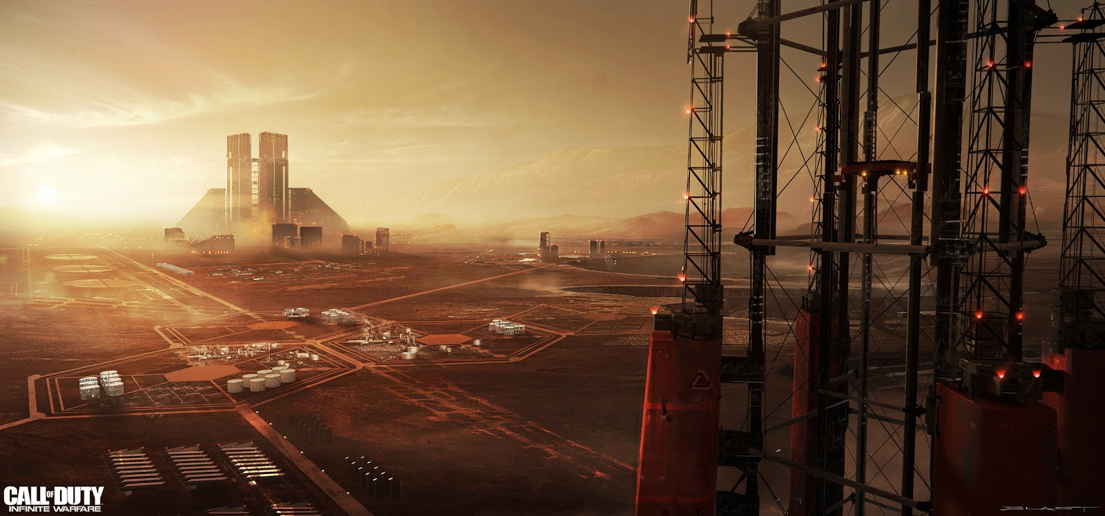 Industrial Mars by Benjamin Last - concept art for Call of Duty Infinite Warfare