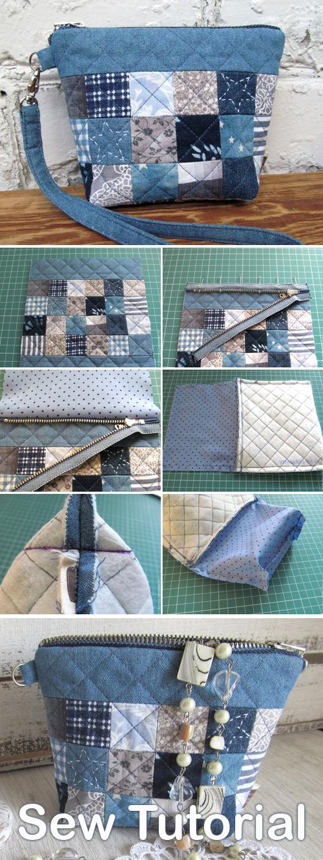 Denim Cosmetic Bag Tutorial