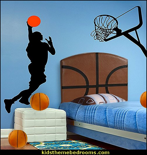 Michael Jordan Dunk Figure Silhouette Basketball Hoop Wall Art Decor Decal Vinyl Sticker