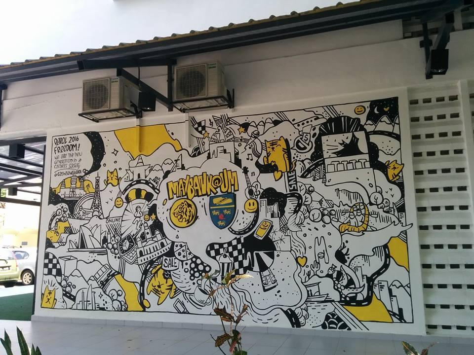 Perol graffiti malaysia for Mural 1 malaysia