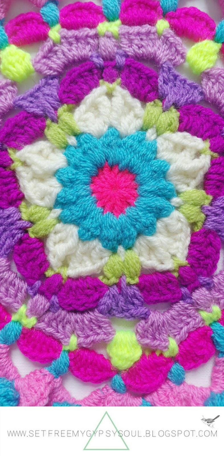 free mandala crochet pattern hippie boho flower