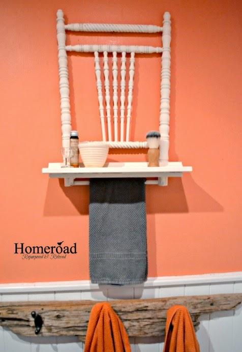 antique chair back shelf www.homeroad.net