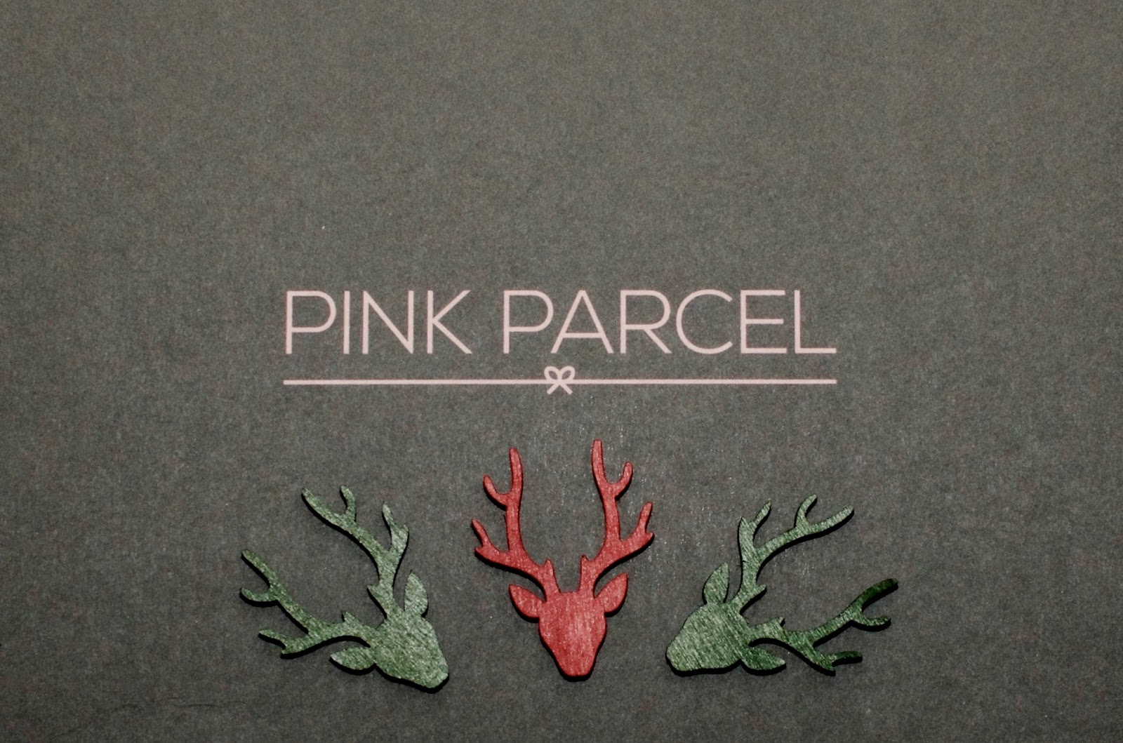 Pink Parcel Christmas Box and Reindeer