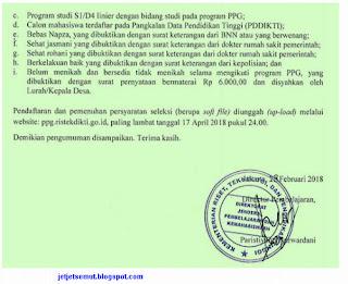 PPG Prajabatan Bersubsidi 2018  http://ppg.ristekdikti.go.id/daftar/index.php/pendaftaran/formulir/index