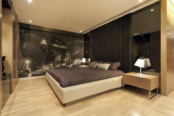 papier peint design chambre adulte. Black Bedroom Furniture Sets. Home Design Ideas