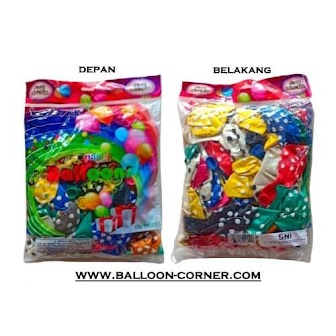 Balon Latex Metalik Polkadot 12 Inchi 300 Gram Isi 100 Pcs (GROSIR)