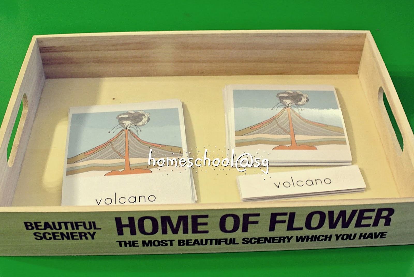 Homeschool Sg Parts Of A Volcano Montessori