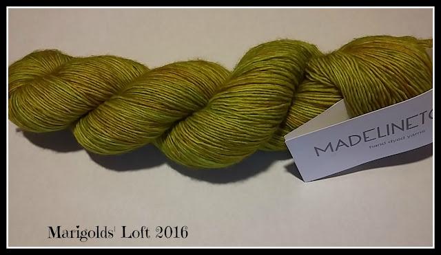 Madeline Tosh Merino Light Maple leaf