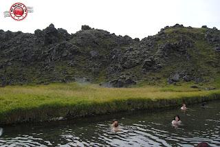 Baño en Landmannalaugar