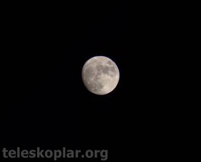 nikon 10x50 ile gözlemlenmiş ay