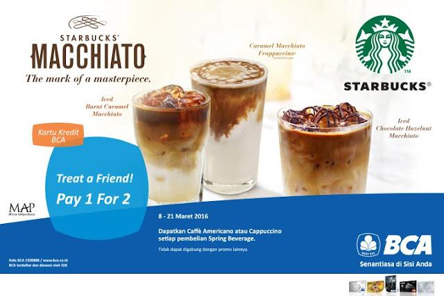 Starbuck Promo Kartu Kredit BCA Terbaru Periode 8 – 21 Maret 2016